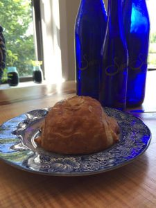 Almond croissant in Saratoga Springs NY
